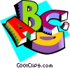 Vector Clipart illustration  of a Education Letters of the alphabet