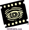 Vector Clip Art graphic  of a The Arts/Film