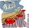 Vector Clipart graphic  of a bar scene