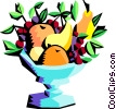 Vector Clipart picture  of a bowl of fruit