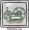 factory equipment Vector Clipart image