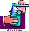 mixing chemicals Vector Clip Art image
