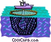 Vector Clipart picture  of a Commercial fishing boat