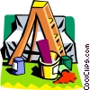 Vector Clipart picture  of a ladder and paint