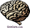woodcut brain Vector Clipart graphic
