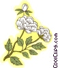 white flowers Vector Clipart illustration