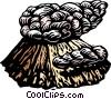 smoking volcano Vector Clip Art image