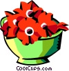 pot of flowers Vector Clip Art picture