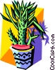 cactus in pot Vector Clipart picture