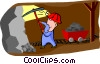 miner Vector Clip Art graphic