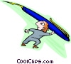 Vector Clip Art image  of an aiming high