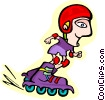 roller bladder Vector Clipart image