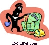 domestic worker Vector Clipart image