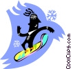 Vector Clip Art image  of a surfer dude