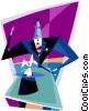 Vector Clip Art image  of a magician