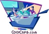 cooking up ideas Vector Clip Art graphic