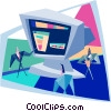 PC presentation Vector Clip Art picture
