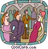 party goers Vector Clip Art image