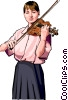 Vector Clip Art picture  of a violinist