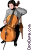 Vector Clipart graphic  of a Classical musician