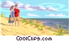 Vector Clip Art graphic  of a on the beach