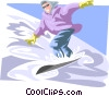 Vector Clip Art graphic  of a snow boarder