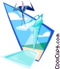 Vector Clipart picture  of a dive in