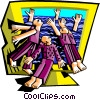Vector Clipart picture  of a online addiction