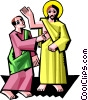 Jesus with Thomas Vector Clipart picture