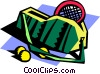 Vector Clipart illustration  of a tennis bag