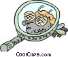 Vector Clip Art graphic  of a under a microscope