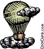 Vector Clip Art image  of a Balloon with passengers
