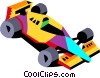 Vector Clipart graphic  of a racecar