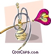 Vector Clip Art image  of a bong and fan