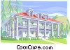 Vector Clipart illustration  of a mansion