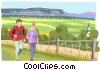Hiking couple Vector Clip Art picture