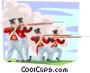Vector Clip Art picture  of a Fort Henry soldiers