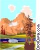 Camping spot, camper Vector Clip Art graphic
