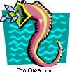 Vector Clip Art image  of a Stylized seahorse