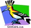 Vector Clipart graphic  of a Stylized tropical bird