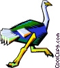 Vector Clipart illustration  of a Stylized ostrich