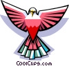 Vector Clipart graphic  of a Stylized bird