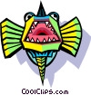Vector Clipart graphic  of a stylized fish