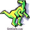 Vector Clip Art image  of a stylized dinosaur