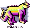Vector Clipart graphic  of a stylized dinosaur