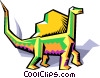 stylized dinosaur Vector Clipart image