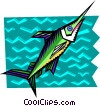stylized swordfish Vector Clipart picture