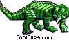 stylized dinosaur Vector Clipart graphic