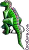 Vector Clipart illustration  of a stylized dinosaur