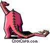 Vector Clip Art picture  of a stylized dinosaur
